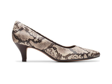 Clarks Linvale Jerica in Taupe Snake outer view