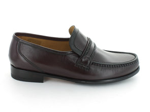 Loake Rome in Burgundy Leather outer view