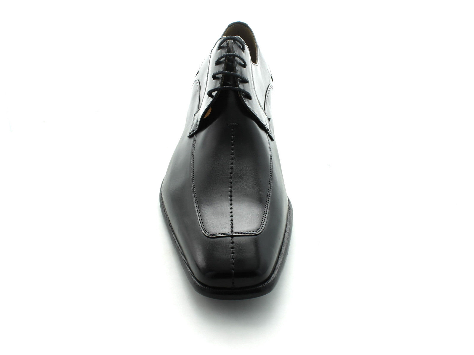 Mezlan Malaga in Black Calfskin front view