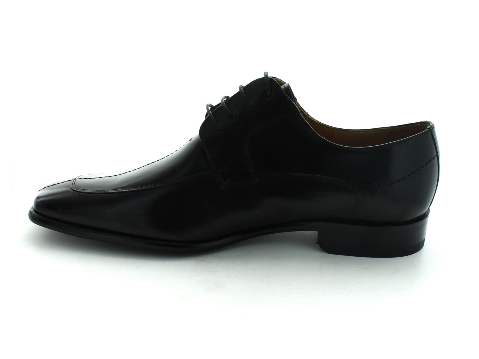 Mezlan Malaga in Black Calfskin inner view