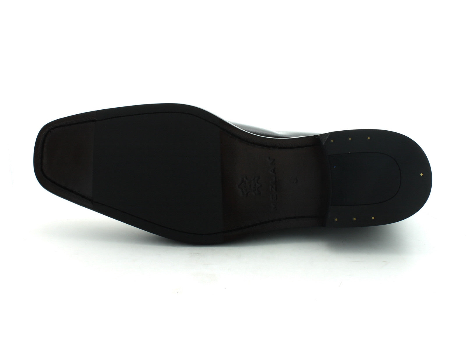 Mezlan Malaga in Black Calfskin sole view