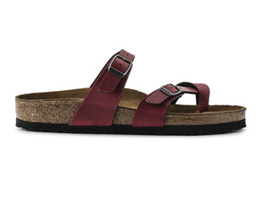 Birkenstock Mayari in Pull Up Bordeaux outer view