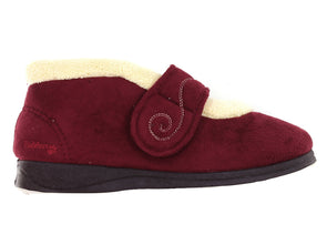 Padders Hush in Wine Suede outer view