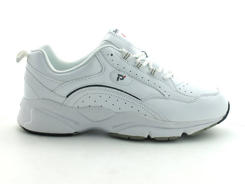 Propet Ped 8 in White Leather outer view