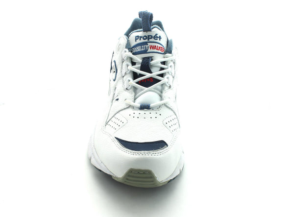Propet W2034 in White & Navy front view