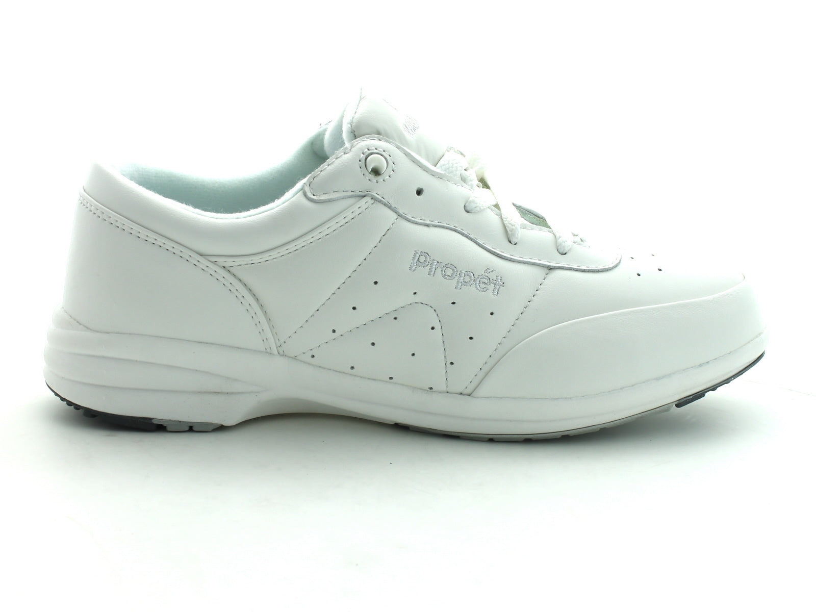 Propet W2840 in White Leather outer view