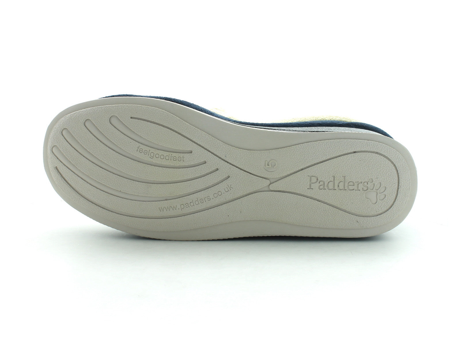 Padders Repose in Navy Suede sole view
