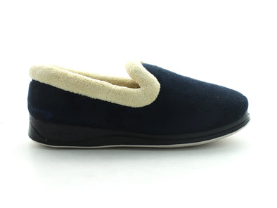 Padders Repose in Navy Suede outer view