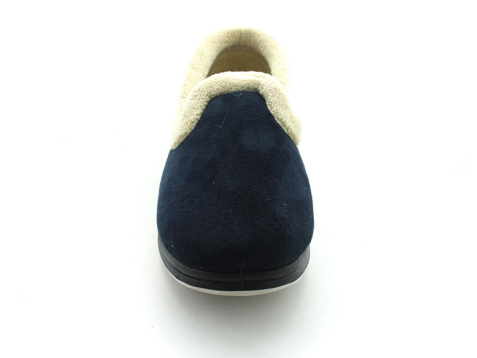 Padders Repose in Navy Suede front view