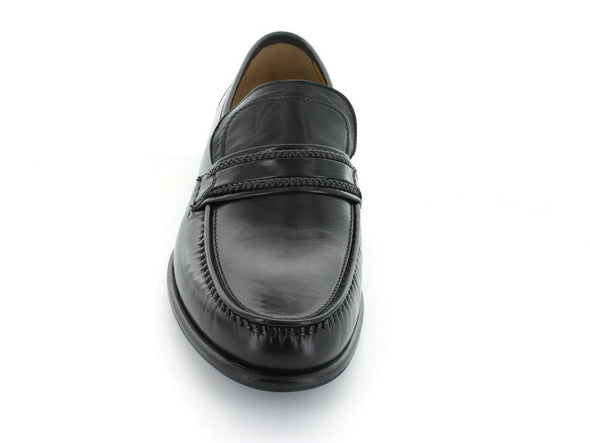 Loake Rome in Black Leather front view