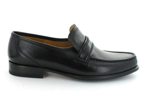 Loake Rome in Black Leather outer view