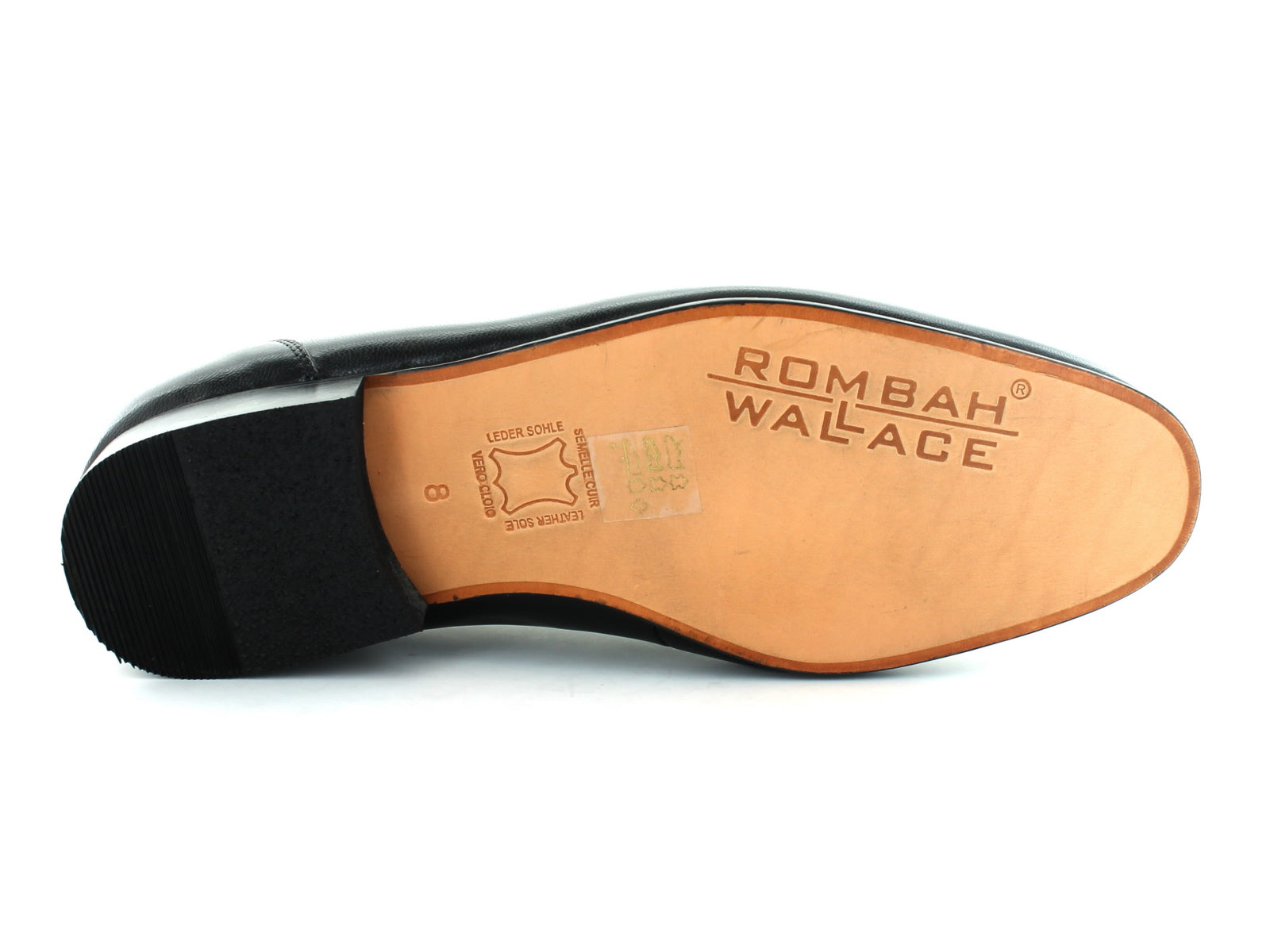 Rombah Wallace Romsey 8309 in Black Leather sole view