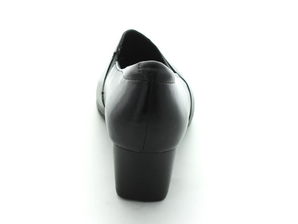 Clarks Rosalyn Adele in Black Leather back view