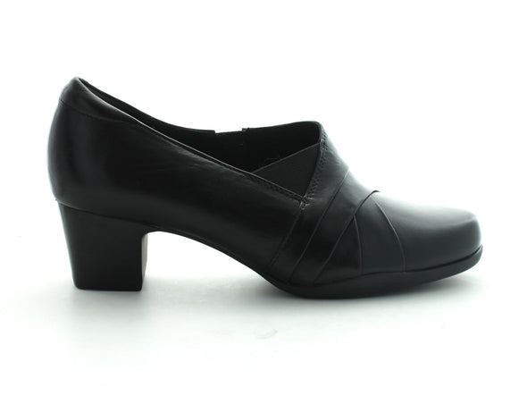 Clarks Rosalyn Adele in Black Leather outer view