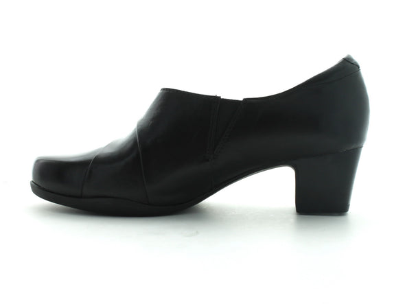 Clarks Rosalyn Adele in Black Leather inner view