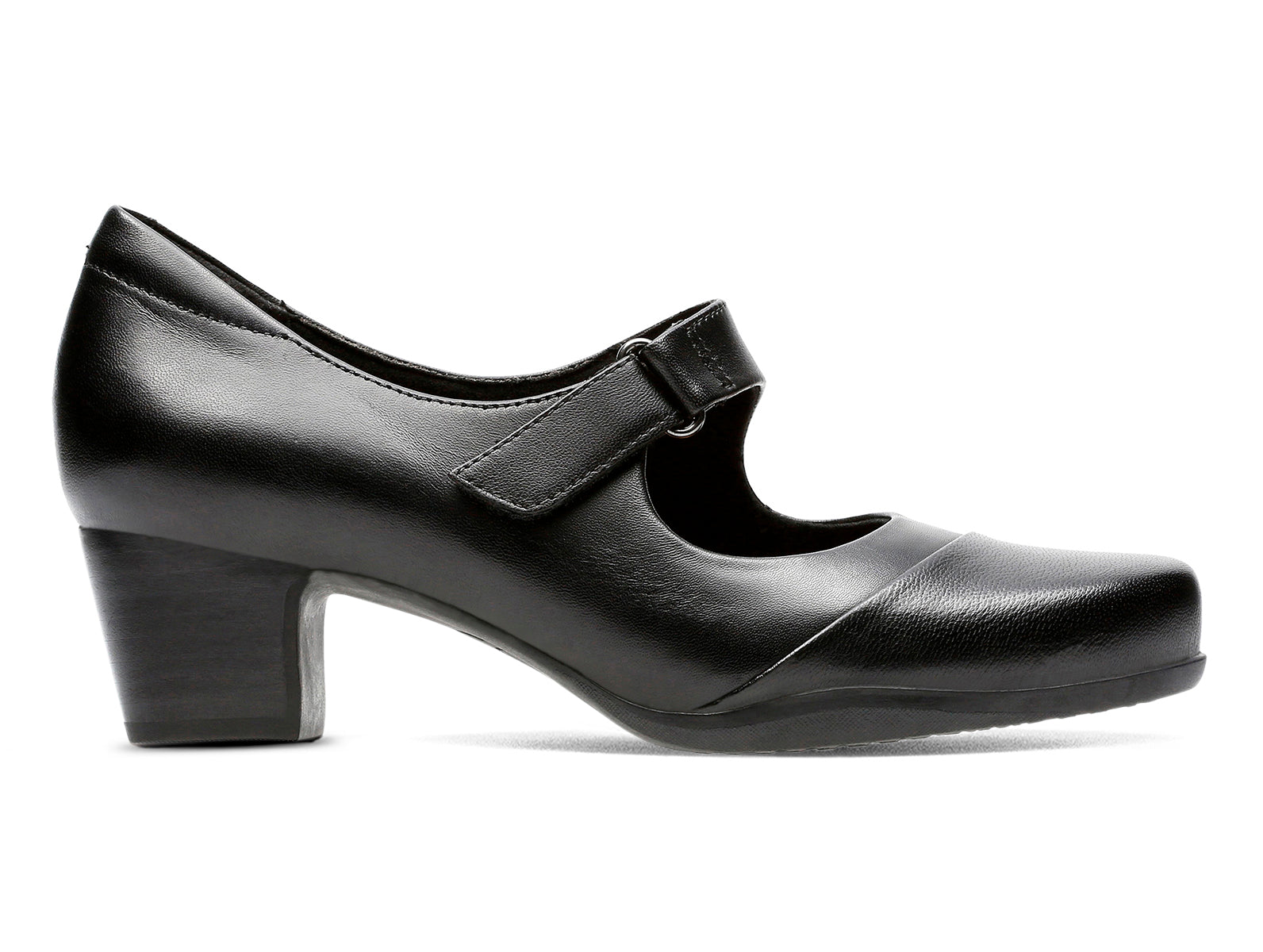 c1ab3387fc Clarks Rosalyn Wren   Mary Jane Pump   Black Leather – Walsh Brothers Shoes