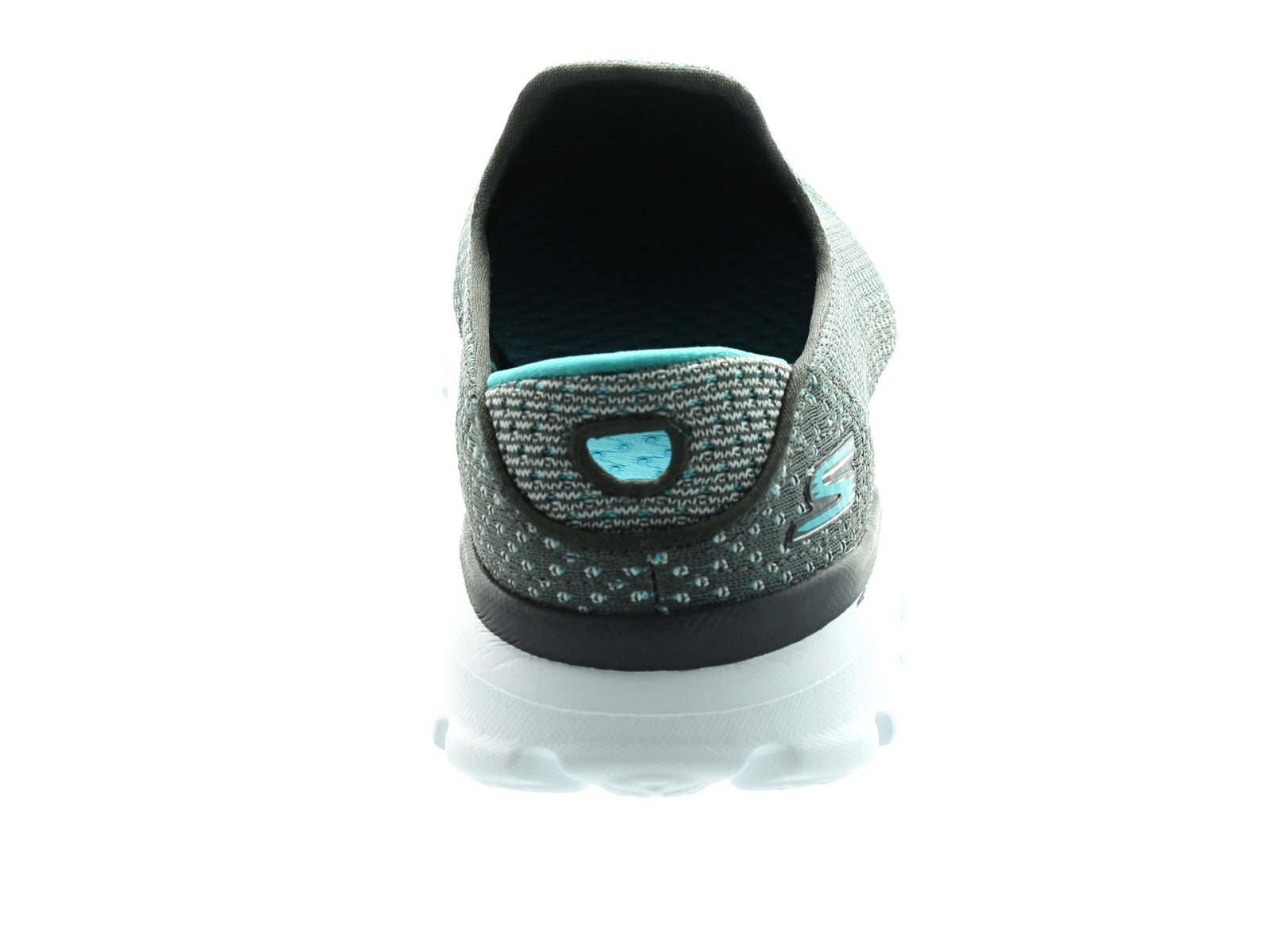 Skechers Go Walk 314060 in Charcoal/Blue back view