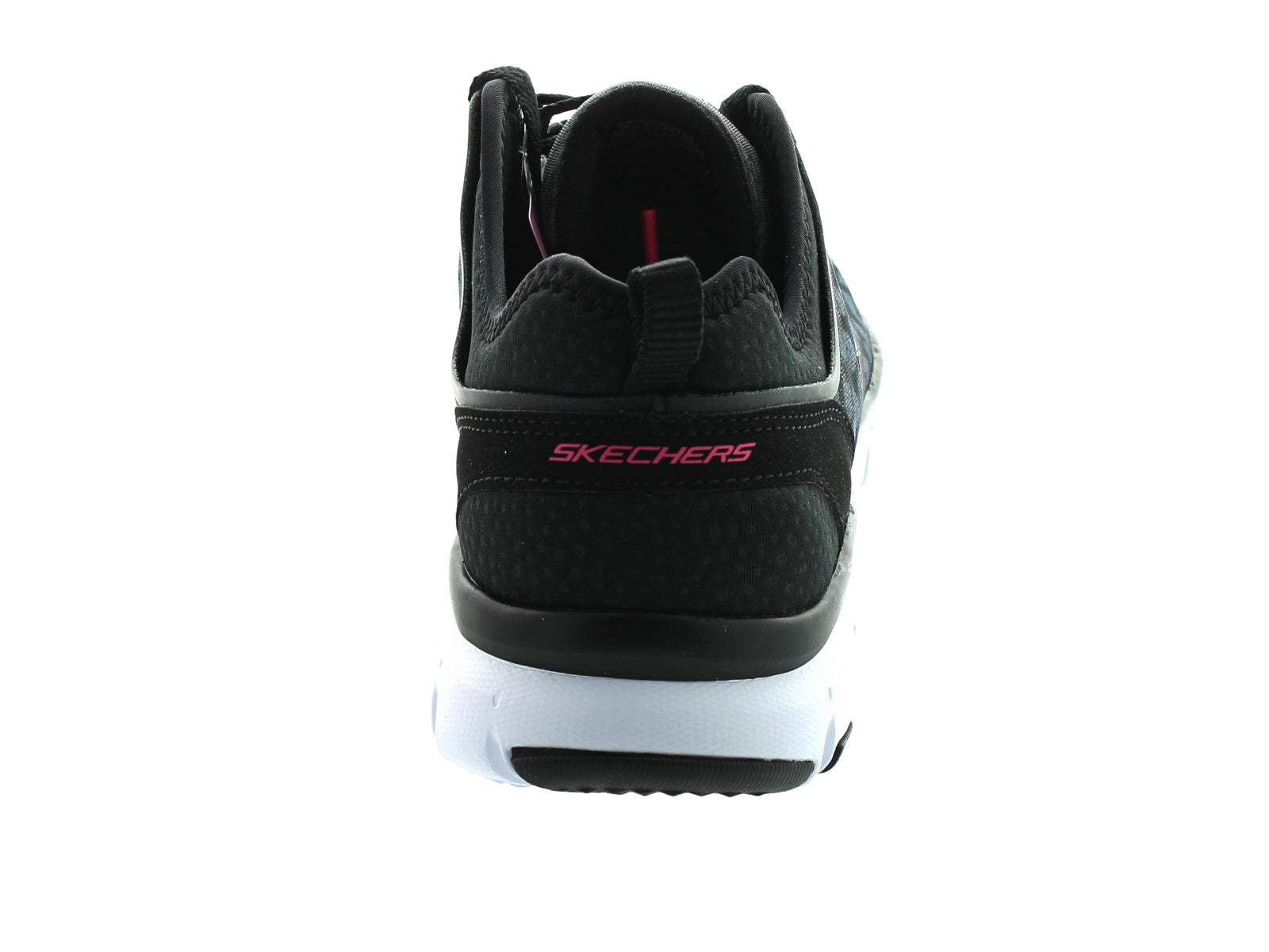 Skechers Sketch-Flex-Power-Player 12131 in black/white back view
