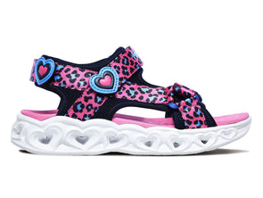 Skechers 302090 iin Hot Pink Blue outer view