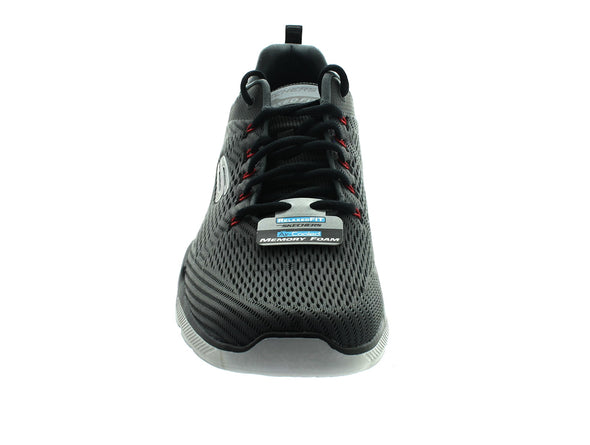 Skechers 52927 in Charcoal front view