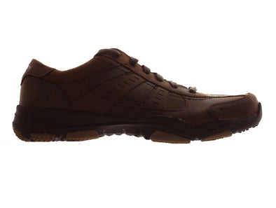 Skechers Larson - Nerick 64883 in Brwon outer view