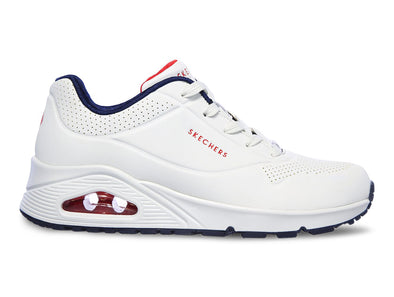 Skechers Uno Stand on Air white navy outer view