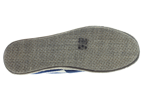 Toms Navy Stripe Canvas 10005419 in Navy sole view