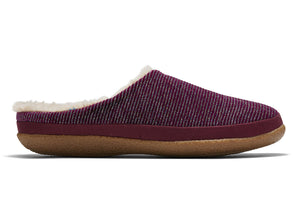 Toms 10015840 Ivy in Cabernet Glitter Rib Knit outer view