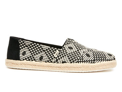 Toms Geometric Women's Espadrilles 10015073  black outer view