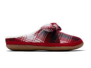 TOMS Ivy 10014622  in Red Plaid Multi inner view