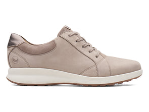 Clarks Un Adorn Lace pebble metallic outer view
