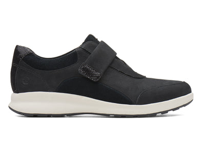Clarks Un Adorn Lo black outer view