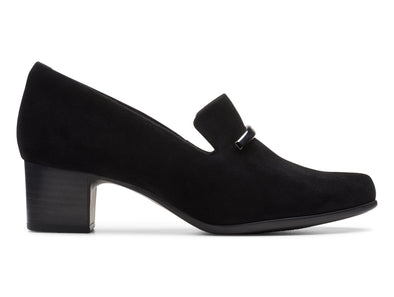Clarks Un Damson Lane black outer view