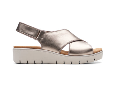 Clarks Un Karely Sun gold outer view