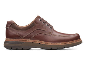 Clarks Un Ramble Lace in Mahogany Leather outer view