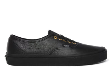 Vans Authentic in Black Leather outer view