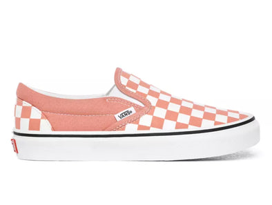 Vans Classic Slip-On Checkerboard in Rose Dawn outer view