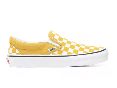 Vans Classic Slip-on in Checkerboard in Yolk Yellow outer view