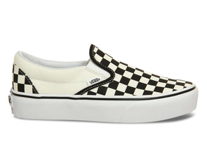 Vans Classic Slip-on in Checkerboard in Black White outer view