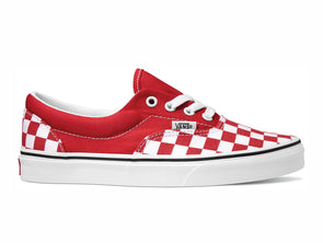 Vans Era Checkerboard in Red outer view