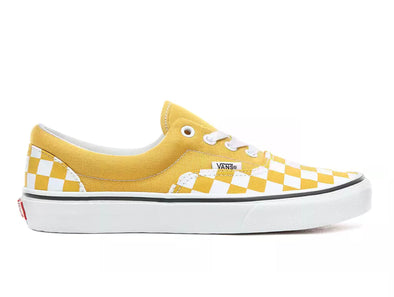 Vans Era Yolk Yellow Checkerboard outer view