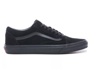 Vans Old Skool in Black suede outer view