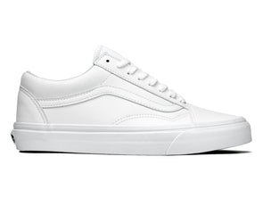 Vans Old Skool Classic Tumble in True White outer view
