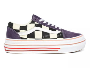 Vans Super Comfycush O in Purple Multi outer view