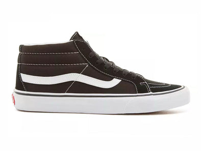 Vans Sk8-Mid Reissue in Black white outer view