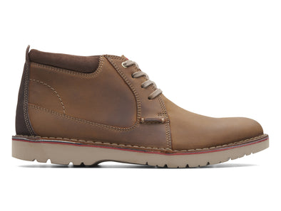 Clarks Vargo Mid brown outer view