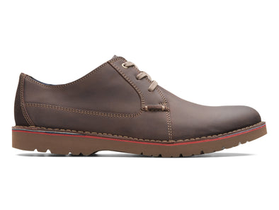 Clarks Vargo Plain in Dark Brown outer view