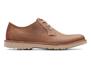 Clarks Vargo Plain in Dark Tan outer view