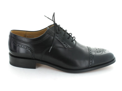 Loake Woodstock in Black Leather outer view