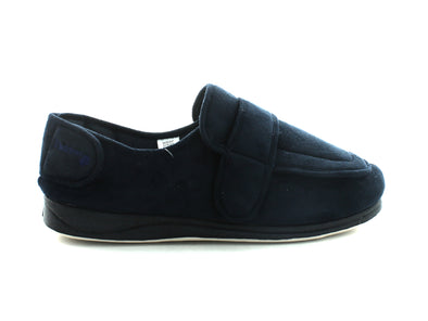 Padders Wrap in Navy Suede outer view